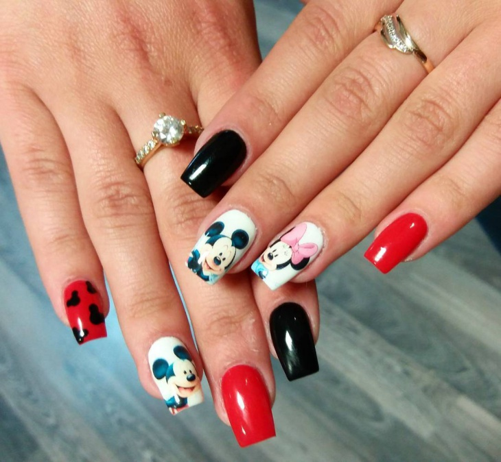 Disney Nail Art: 21+ Mickey Mouse Nail Art Designs, Ideas