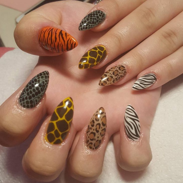 Animal Nail Art: 21+ Animal Print Nail Art Designs, Ideas