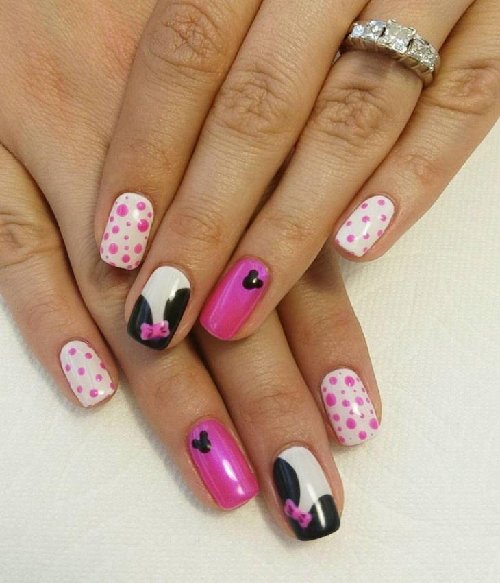 21  mickey mouse nail art designs  ideas