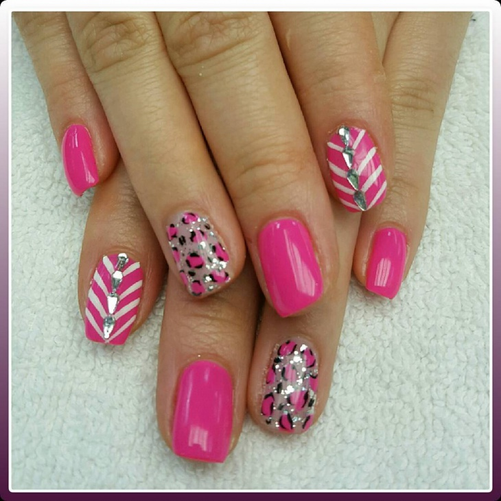 Girly Leopard Art for Nails