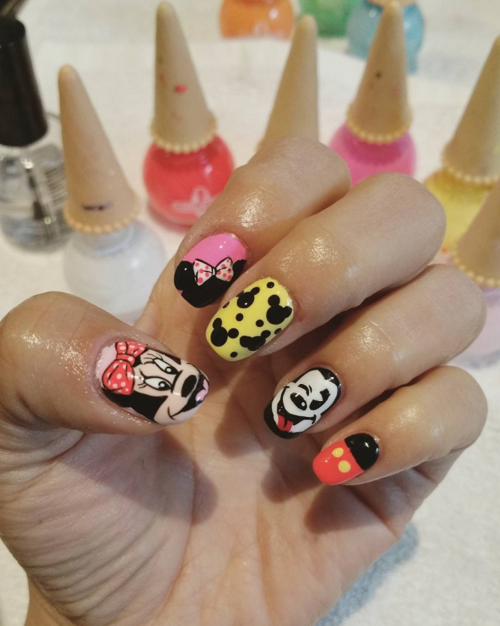 Funny Mickey Nail Design
