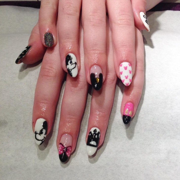 Pointy Mickey Nail Art