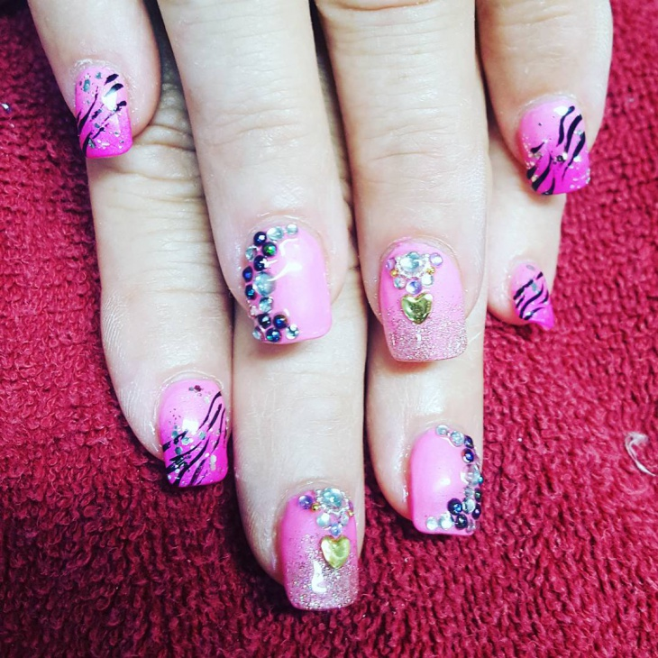 summer wedding nail art