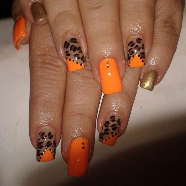 amazing leopard print nails