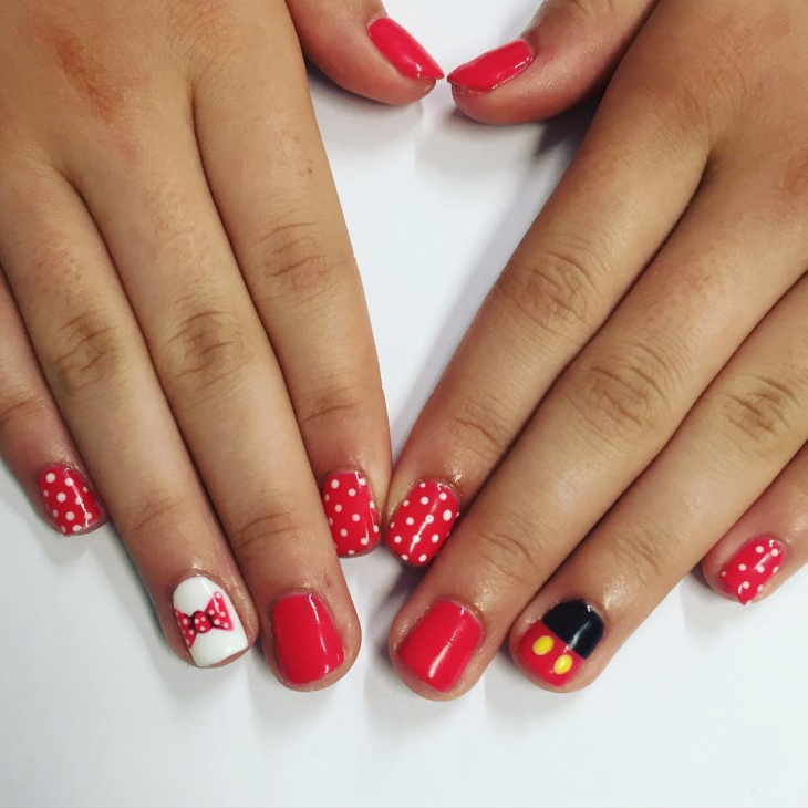Mickey Mouse Nails: 21+ Mickey Mouse Nail Art Designs, Ideas