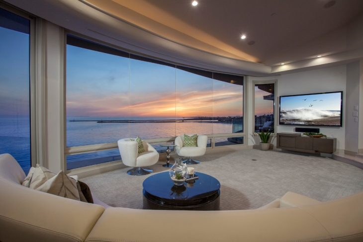 Contemporary Ocean Front Family Room