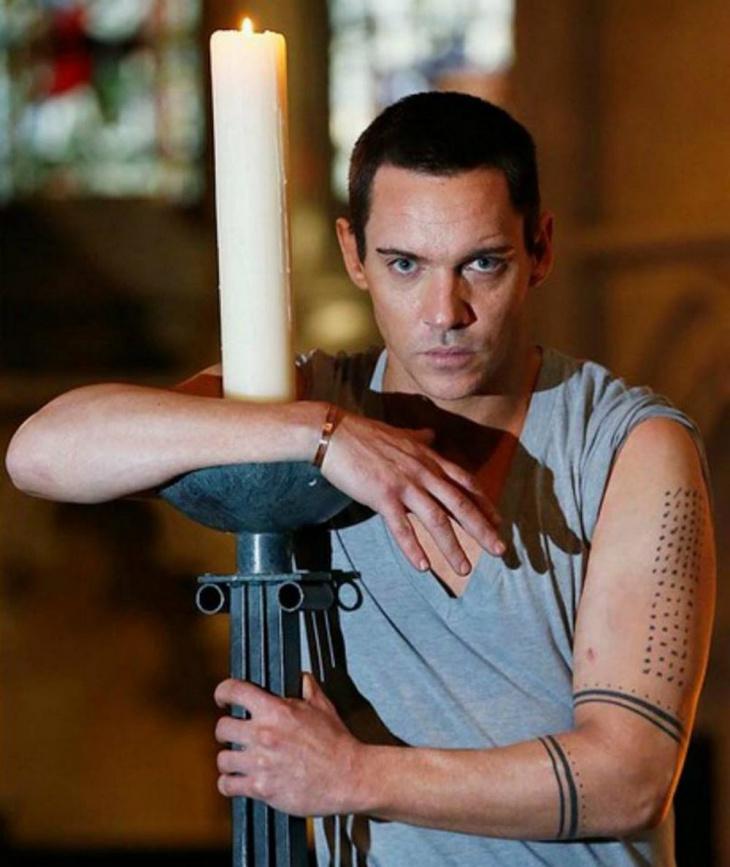 Jonathan Rhys Meyers arm tattoo