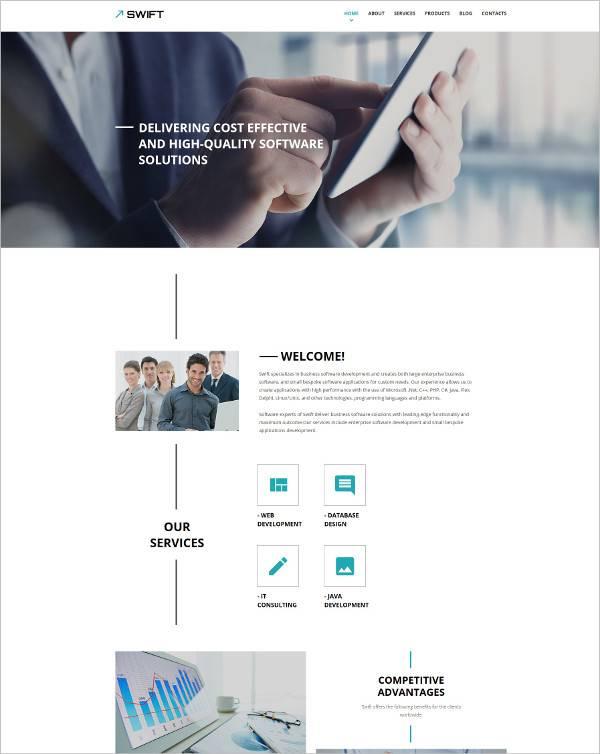 Responsive Business Website WordPress Theme