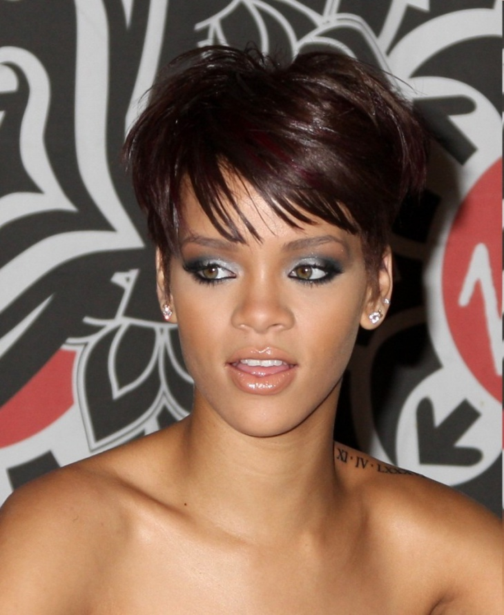 Rihanna Short and Edgy Haircut