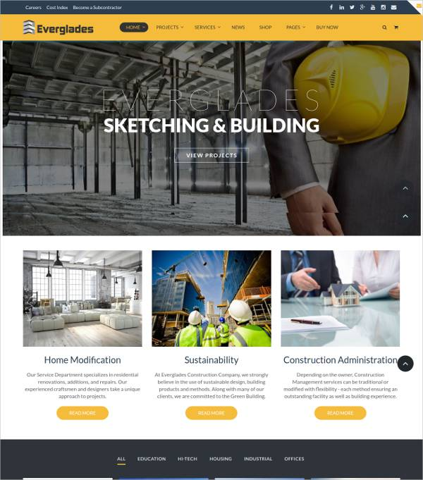 multipurpose construction wordpress theme