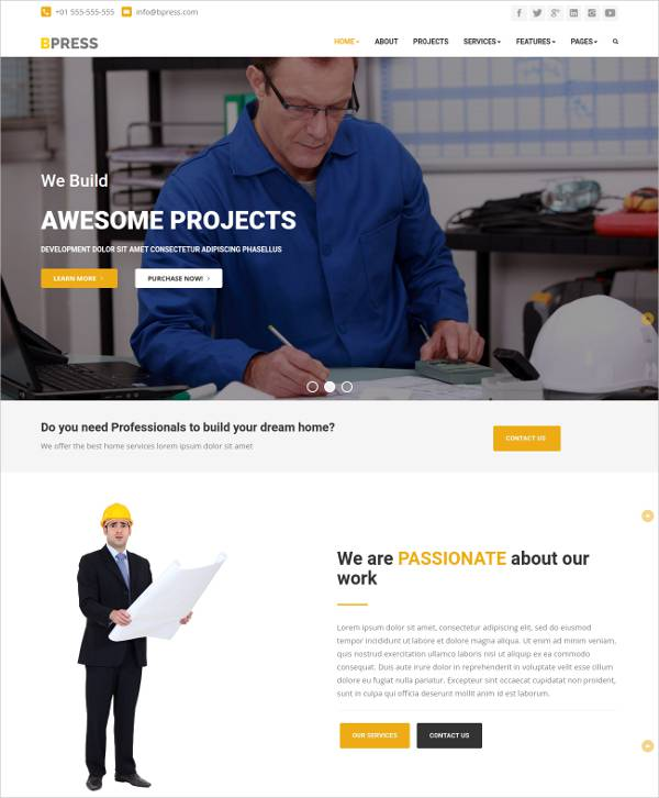 best construction wordpress template1