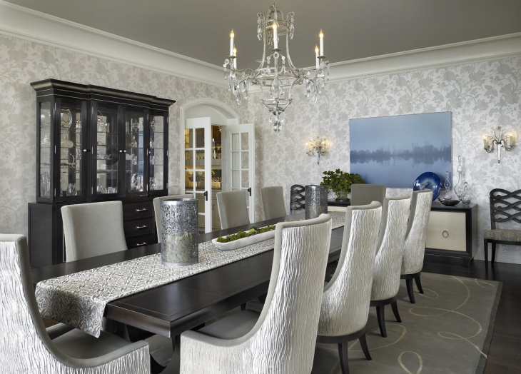 lavish dining room decorating idea