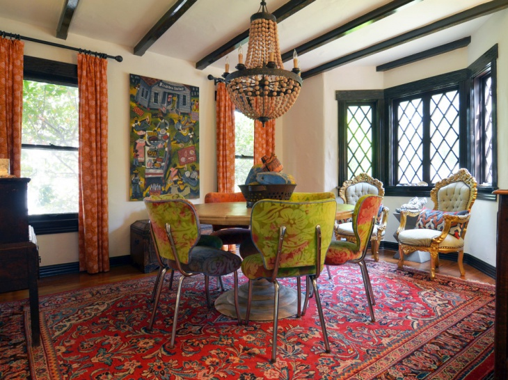 21+ Bohemian Dining Room Designs, Decorating Ideas | Design Trends ...