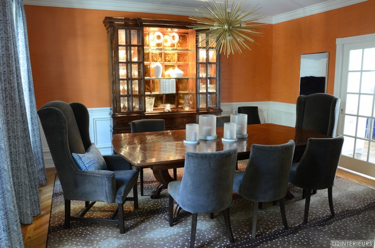 Gray Chairs with Dining Room