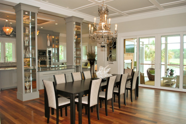 Black Wood Dining Table Design Idea