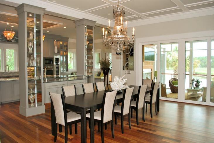 black wood dining table design idea