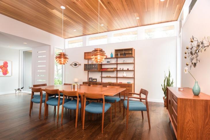 mid century dining room with danish furnishing