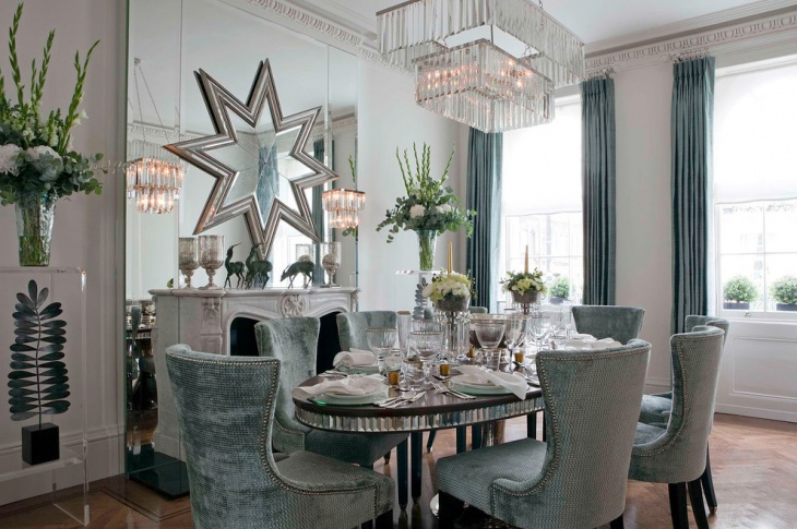 glass lighing dining room