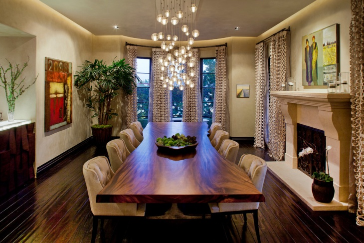 Luxurious Dining Room Lighting Idea