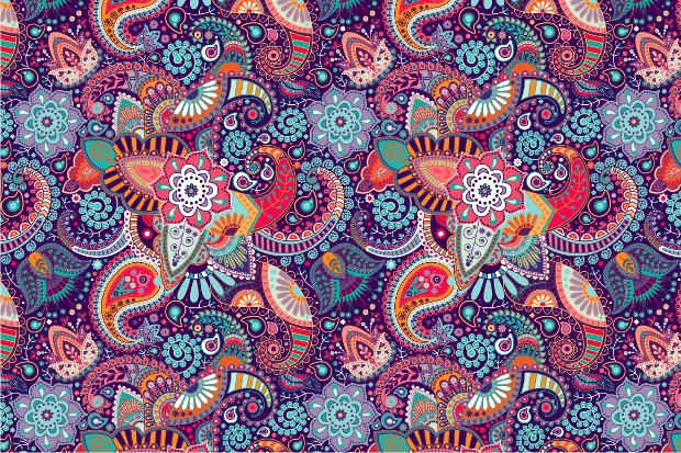 High Resolution Seamless Ethnic Pattern