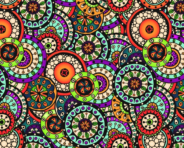 Beautiful Ethnic Style Seamless Pattern