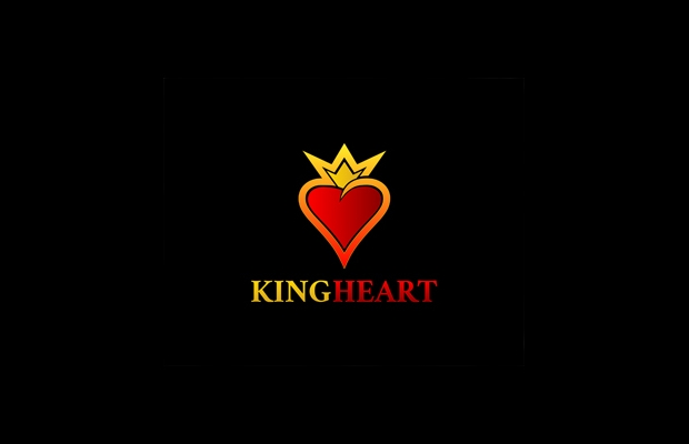 king heart logo idea