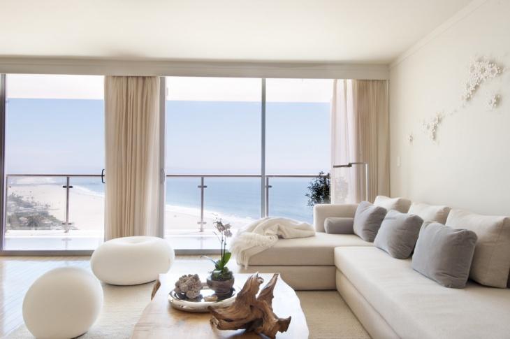 beach view zen living room
