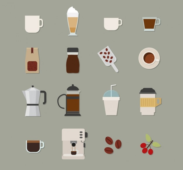free vectors coffee icons