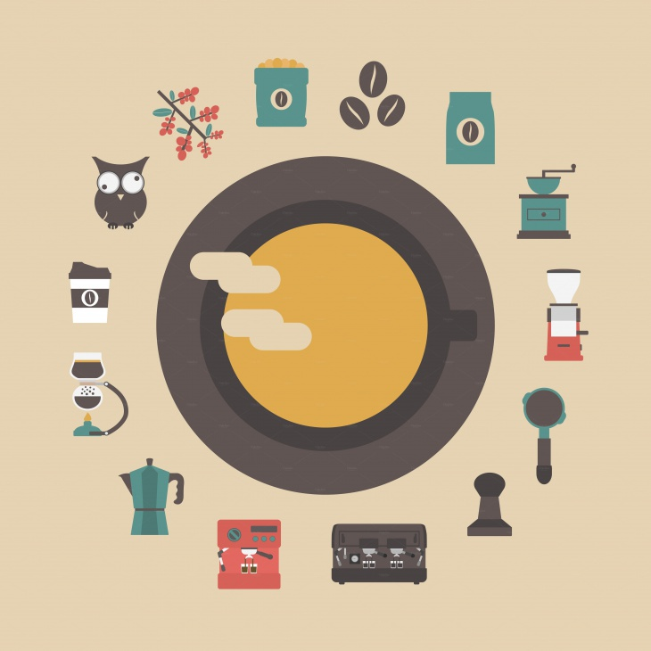 retro coffee icon