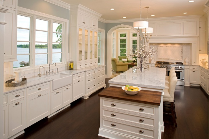 traditional white kitchen cabinets design