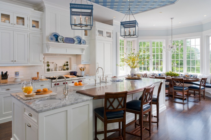 blue and white kitchen design idea