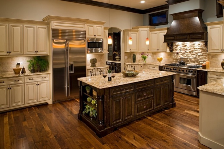 Gold Granite Countertop Kitchen