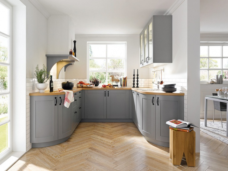 grey and white kitchen design