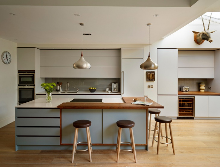 Modern Kitchen with Wood Floor