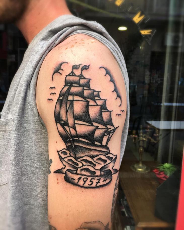 Ship Sailor Tattoo