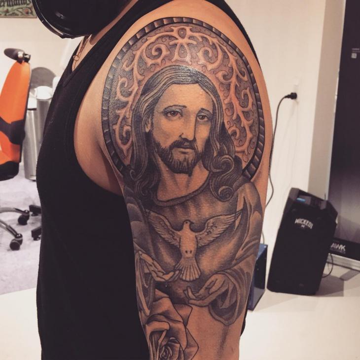 religious god tattoo design