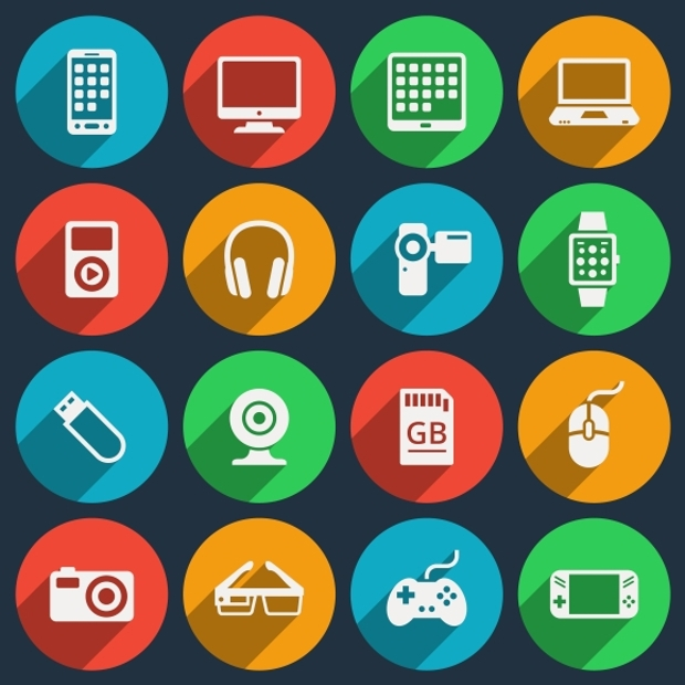 high resolution gadget icons