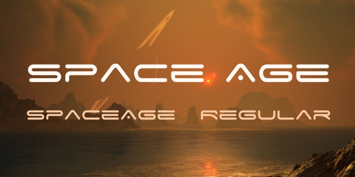 space age font family