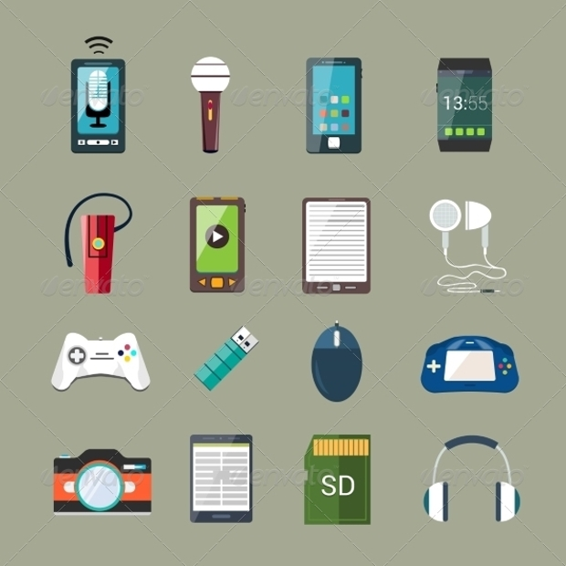 High Quality Gadget Icon Set