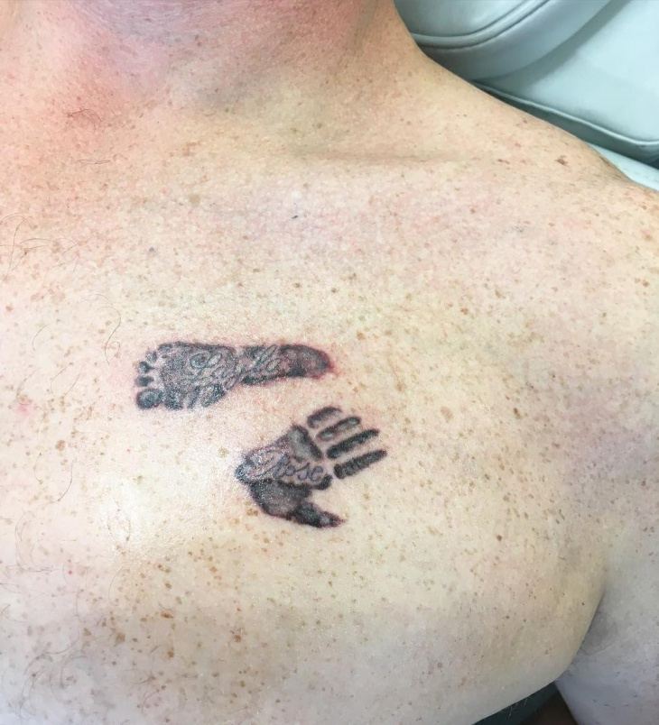 Foot and Hand Print Tattoo