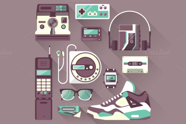 Retro Gadget Icon set