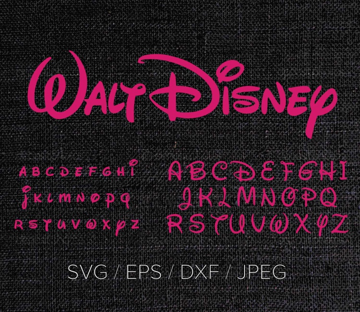 disney font design files