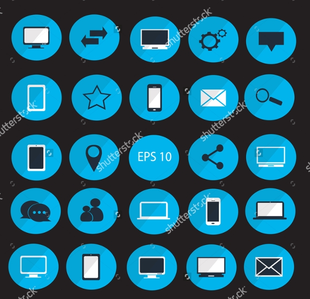 Digital Device Icon Set
