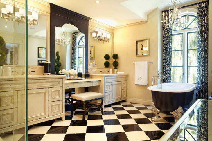 Classic Black and White Tile Bathroom