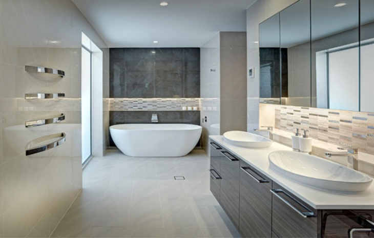 Modern Beige Bathroom Interior