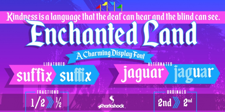 enchanted land font