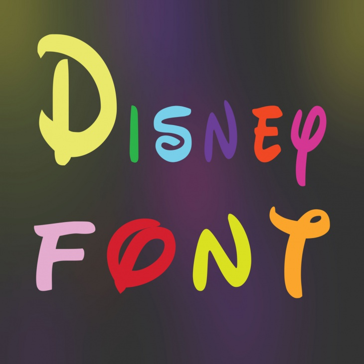 disney font svg design