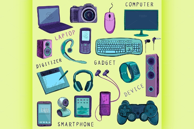 Hand Drawn Gadget Icons