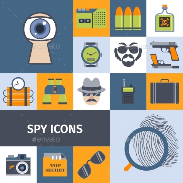 spy gadget icons