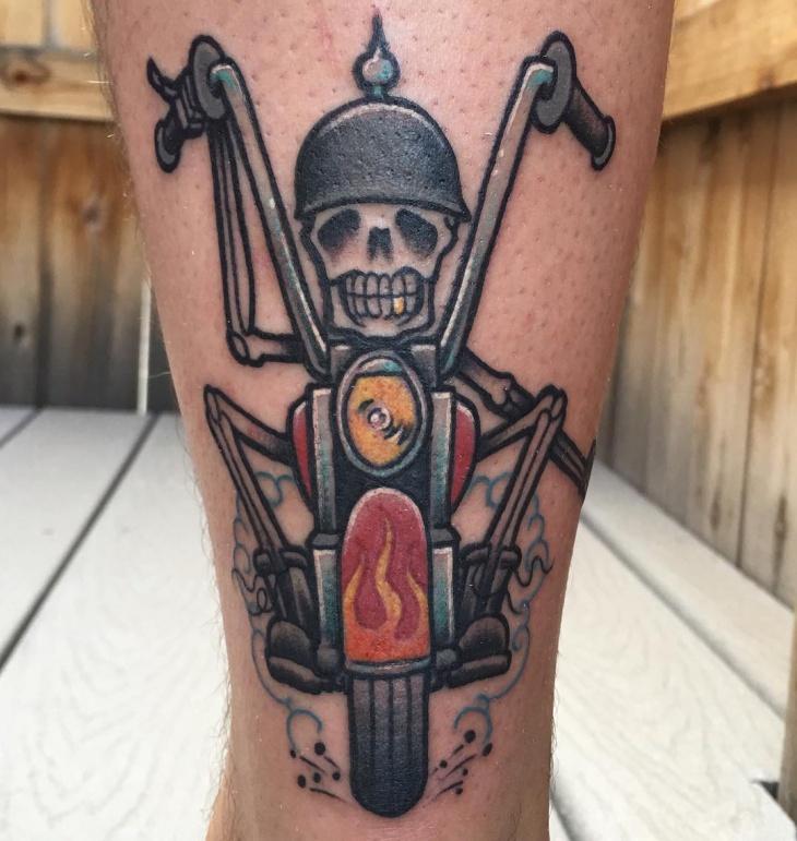 cool skeleton tattoo on hand